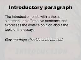 writing an argumentative essay introductory paragraphthe introduction