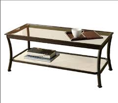 Amazon.com: Mendocino Coffee Table Metal Glass Top Living Room Accent  Furniture Storage Black (1): Kitchen U0026 Dining