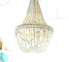 white bead chandelier small beaded favorite wood world market smal