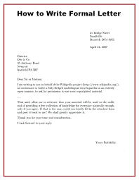 Heading Of Formal Letter Format For Writing A Business Letter In Spanish Formal Letter