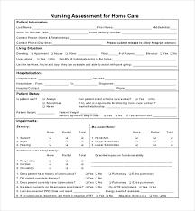Sample Assessment Form Nurse Assessment Form Under Fontanacountryinn Com