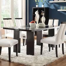 black wood rectangular dining table. Kenneth Rectangular Dining Table With LED Light Black Wood E