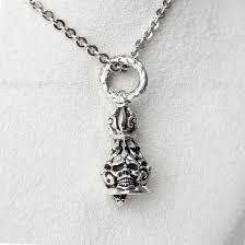 skull pendant ring skull bell 925 silver pendant mens skull jewelry