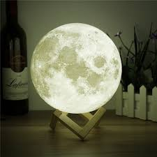 3d print moon lamp rechargeable led night light touch switch dimmable usb table lamp home decor at t in india bigstreetmart com