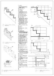 staircase glass railing detail dwg barade connection drawings construction