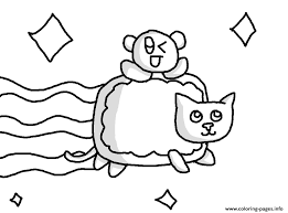 Small Picture Nyan Cat With Baby Nyan Cat Coloring Pages Printable