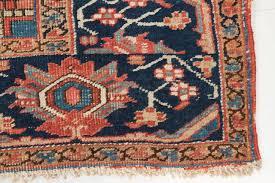 worn authentic antique heriz persian rug circa 1900 2