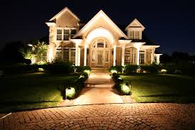 landscaping lighting ideas. House And Driveway With Landscape Lighting Landscaping Ideas