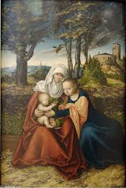 famous painting virgin and child with st anne of lucas cranach the elder