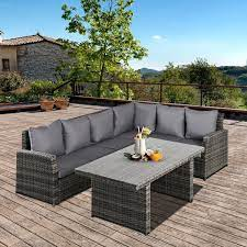 outsunny 3 pcs outdoor patio dining