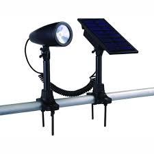 Solar Spot Lights For Flag Pole Hampton Bay Solar Black Outdoor Integrated Led Landscape Flag Light