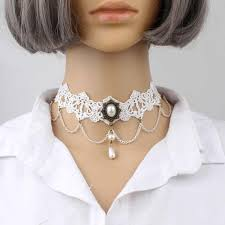 <b>New Fashion exaggerated</b> lace <b>necklace</b> black gem foreign trade ...