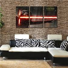 modern decorative art the force awakens kylo star wars poster black canvas painting print for bar art force office decoration