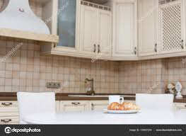 Modern Kitchen Interior Pastry Table Stock Photo Luzgareva