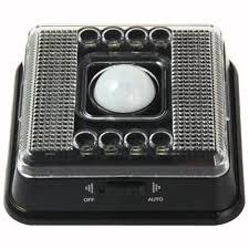L0803 AUTO <b>PIR 8</b> LEDS LIGHT <b>INFRARED</b> HUMAN <b>BODY</b> ...