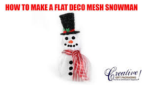 how to make our 3 piece snowman with poly deco mesh