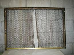 beautiful fireplace chain screen for golden brass fireplace screen w metal chain mail curtain weighted pulleys best of fireplace chain screen