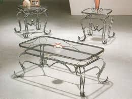 coffee table style wrought iron occasional coffee table set glass coffee end table sets
