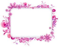 pink fl vector frame png