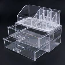 acrylic cosmetic organizer with drawers makeup organizer drawers acrylic acrylic makeup organizer w drawers clear cube
