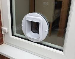 fitting a cat flap in a double glazed door