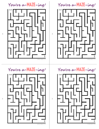 Print out your own super simple valentine's day cards for your valentine featuring a few of our favorite super simple characters. You Re A Maze Ing Free Printable Cards Our Kid Things