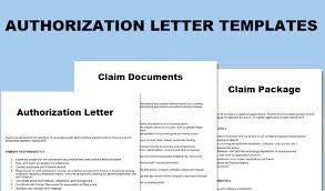 Authorization Letter To Claim Topics About Business Forms