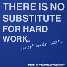 no substitute for hard work by vbaadmin on  no substitute for hard work by vbaadmin