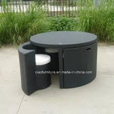 space saving outdoor furniture rattan