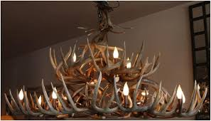 unique chandelier lighting. Large Whitetail Antler Chandelier Unique Lighting