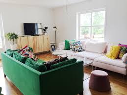home living room green ikea stockholm sofa pink ikea soderhamn