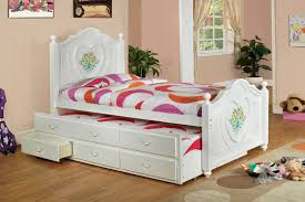 $684 Free Shipping White Wood Girls Twin Captain Bed Platform