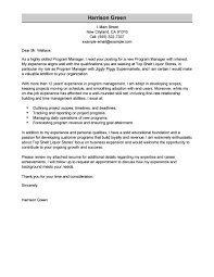 Download Program Manager Cover Letter Example