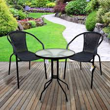 garden patio furniture. 3 piece garden patio all weather grey wicker bistro set outdoor furniture garden patio furniture
