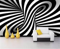 Black and White 3D custom photomural ...