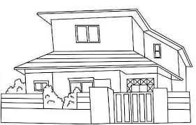 Small Picture Japan Common Houses Coloring Page Japan Common Houses Coloring