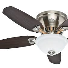 ceiling fans with lights hunter 46 low profile flush mount ceiling fan brushed