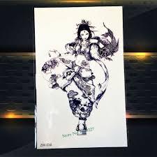 4836 руб 10 скидка25 стилей черные татуировки на руку японского аниме женский воин