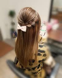 平原さんのヘアスタイル ストレートアレンジ宮 Tredina