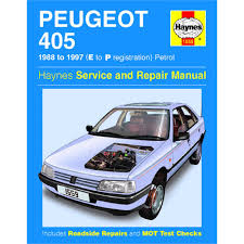haynes diy work manuals peugeot 405 petrol 88 97