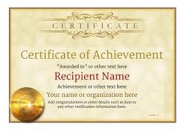Certificate Of Merit Template Certificate Of Achievement Free