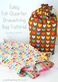 Drawstring Bag Pattern Stunning Fat Quarter Drawstring Bag Tutorial