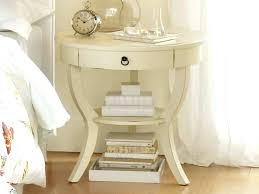 small bedside table cream tables with round and books also drawers lamps uk