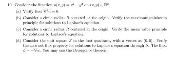 10 consider the function u z y z y on a