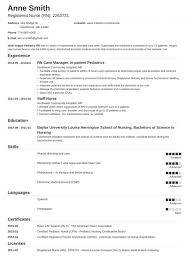 Resume Template For Nursing Job 011 Resume Templates For Nurses Pediatricnurse Template