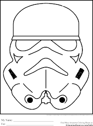 Small Picture Star Wars Colouring Pages Stormtroopers Mask Coloring Pages