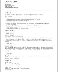 Childcare Resume Templates Best of Childcare Resume Templates Francistan Template