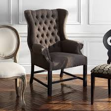 oliver tufted upholstered dining arm chair in charles tweed and