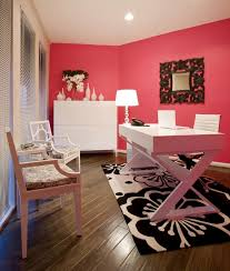 wall colors for home office. highlow workspaceu2014 get the look of this bright pink chic office for less wall colors home n