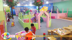 Thi Công Khu Vui Chơi Vườn Hồng Cho Trẻ Em 2 - 13 Tuổi Ở Nông Thôn
